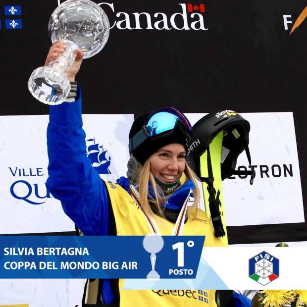 Silvia Bertagna vince la Coppa del Mondo di freestyle (Big Air femminile)