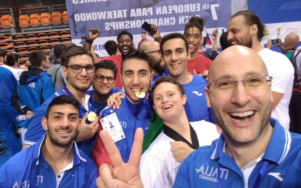 parataekwondo european open 2018 campionati europei italia nazionale italiana plovdiv riccardo zimmerman federico fricano antonino bossolo giovanni sunseri matteo tosoni davide spinelli italy