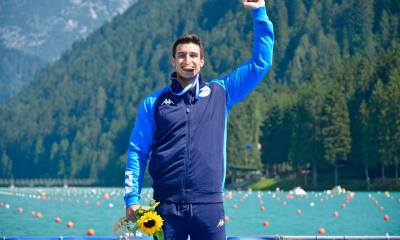 Andrea Domenico di Liberato oro ad Auronzo di Cadore (photo credit: Facebook Official Federcanoa)