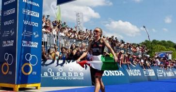 triathlon coppa del mondo e world series 2018 verena steinhauser bronzo terza world cup 2018 losanna italia italy bronze terzo posto