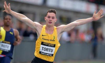 atletica filippo tortu quasi record 100m sprint sprinter velocista italia italy 100 metri 100 metres pippo tortu rieti fiamme gialle