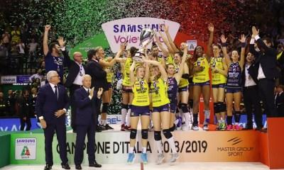 Imoco Volley Conegliano è Campione d'Italia! FONTE: facebook/legavolleyfemminile