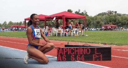 atletica salto in lungo iapichino record italiano U20 italia italy larissa iapichino long jump 6,64 m athletics campionati italiani allievi 2019 agropoli alessandro sion decathlon record italiano under 18