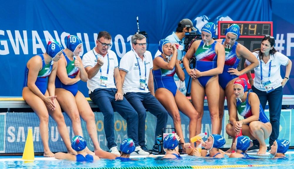 pallanuoto femminile mondiali 2019 gwangju setterosa 7rosa italia russia olanda sesto posto waterpolo world championships italy 6° posto sixth place fabio conti ct