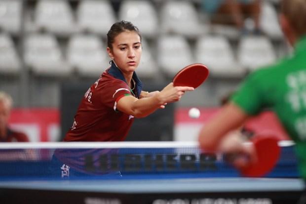 Giorgia Piccolin agli Europei a squadre di Tennistavolo, Nantes (FRA)