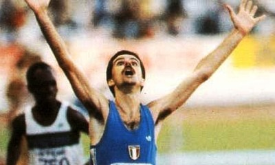 atletica leggera alberto cova vittoria mondiali helsinki finlandia finland helsinki 1983 world championships athletics 10.000 metri meters