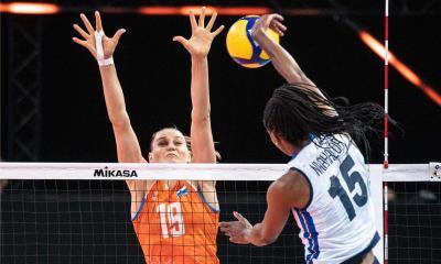VNL 2021, Italia - Olanda 2-3: Sylvia Nwakalor vs. Nika Daalderop FONTE: www.facebook.com/FederazioneItalianaPallavolo