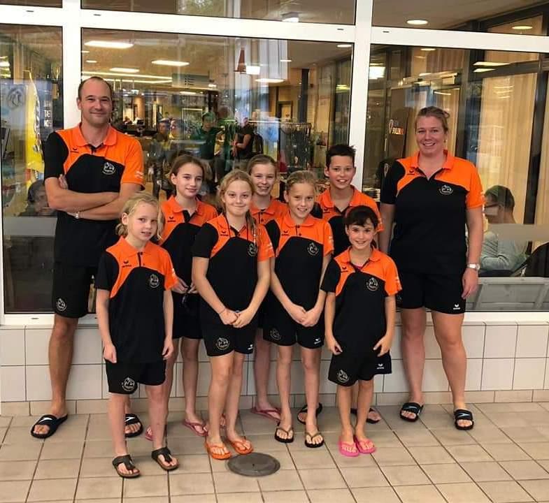 Vijfde plaats voor zevental Biesboschzwemmers