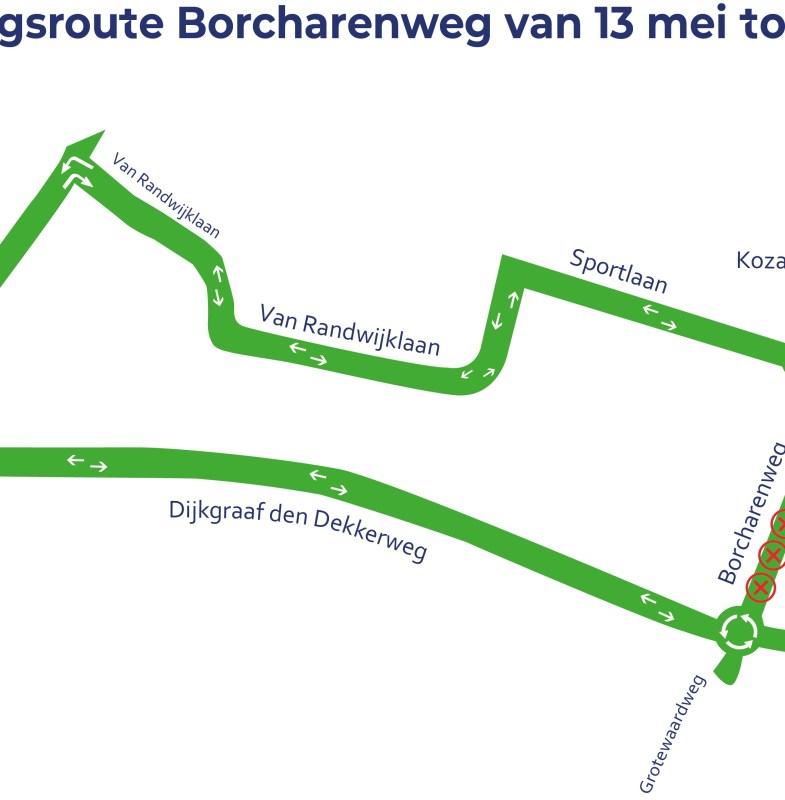 Borcharenweg Werkendam 4 weken afgesloten