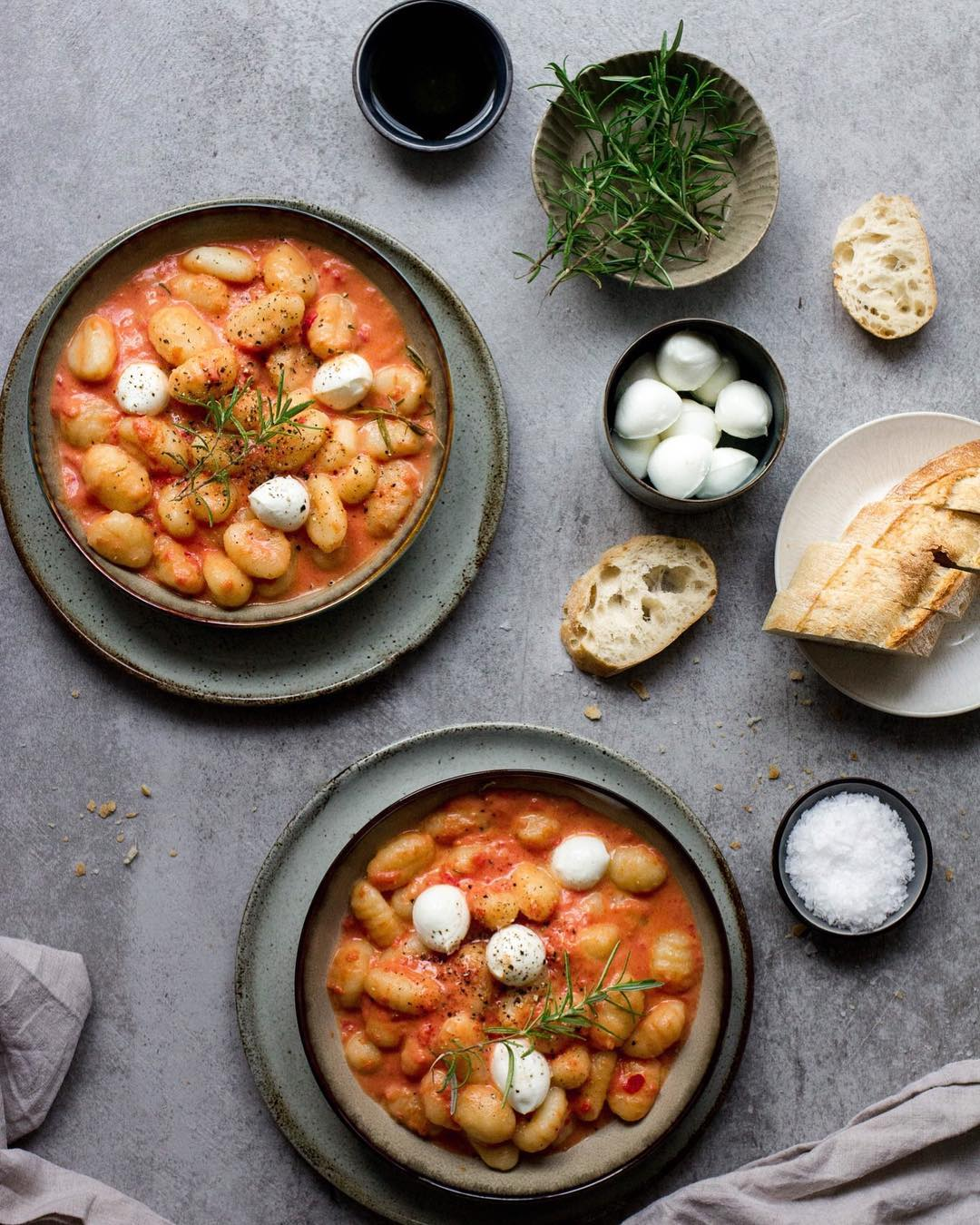 Gnocchi with infused rosamary tomato sauce