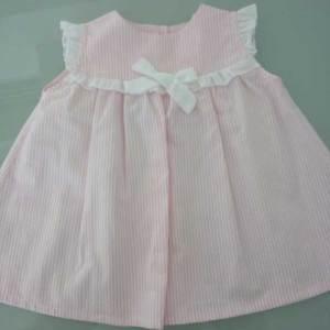 Φόρεμα ροζ ριγέ 13473