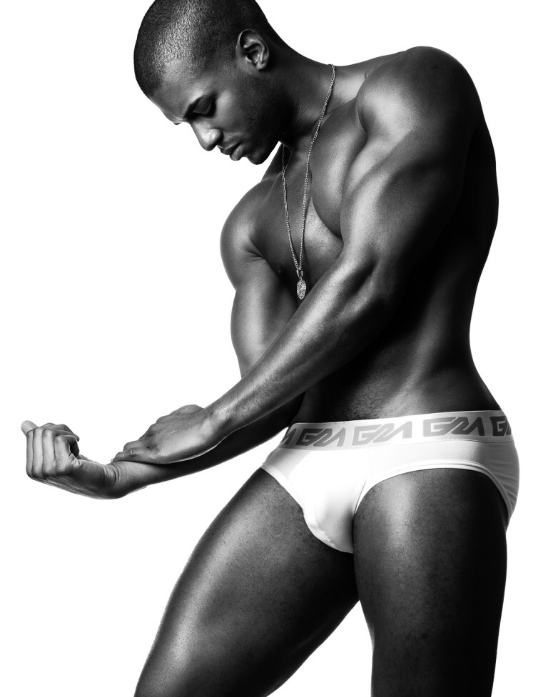 Darius Williams (Soul Artist Management) by Brian Jamie in his Garçon Model Underwear