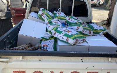 جمعية البر الخيرية بروام تبدء تسلم السلال الغذائية للمرة الثانية خلال الربع الاخير من عام 2020م