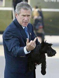 Bush Shoots Nation the Bird