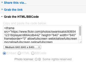 Flickr HTML embed
