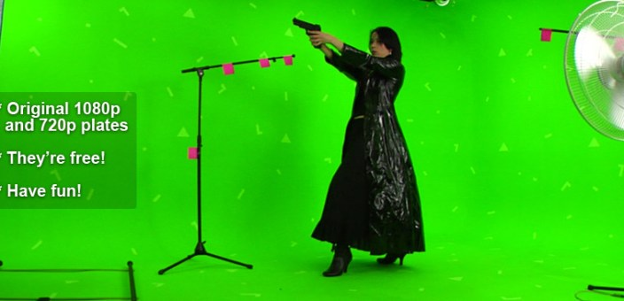 Video Shoot with Camera Matching and Green Screen
