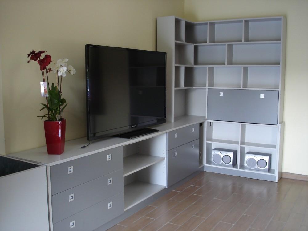 Meuble-TV-Bibliothèque-dangle-mélaminé-gris-1-e1423571347482