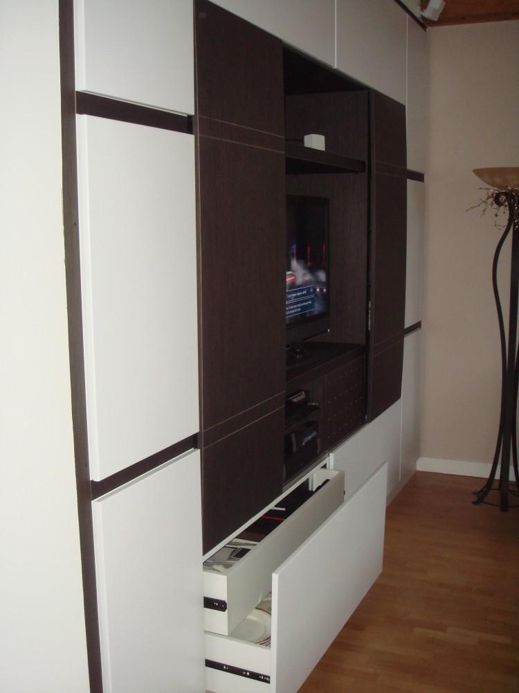 cr ation de meubles tv et biblioth ques sur mesure b2a. Black Bedroom Furniture Sets. Home Design Ideas