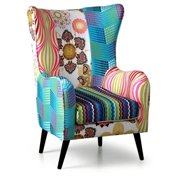 Krzesło Patchwork- uszak