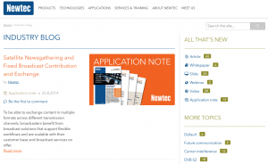 content marketing case - B2B - Newtec
