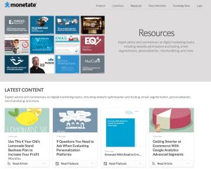 content marketing case - B2B - Monetate