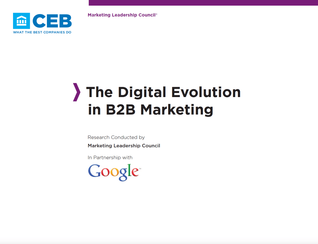 Ebook - The Digital Evolution in B2B marketing - from CEB and Google