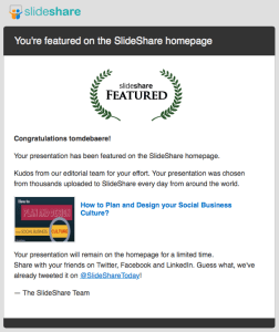 Slideshare featured presentation - best of the best practices Slideshare