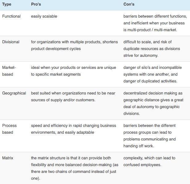 pros_and_cons_of_company_organization_structures