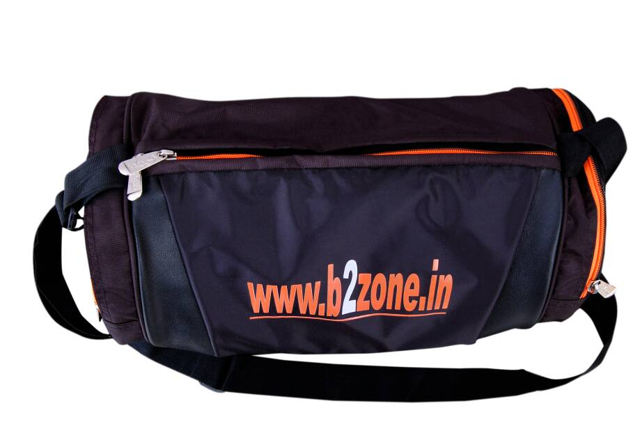 2b9076fd64 Stylish B2zone Pro Sports Duffel Gym Bag (Orange