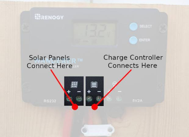 Solar charge controller connections