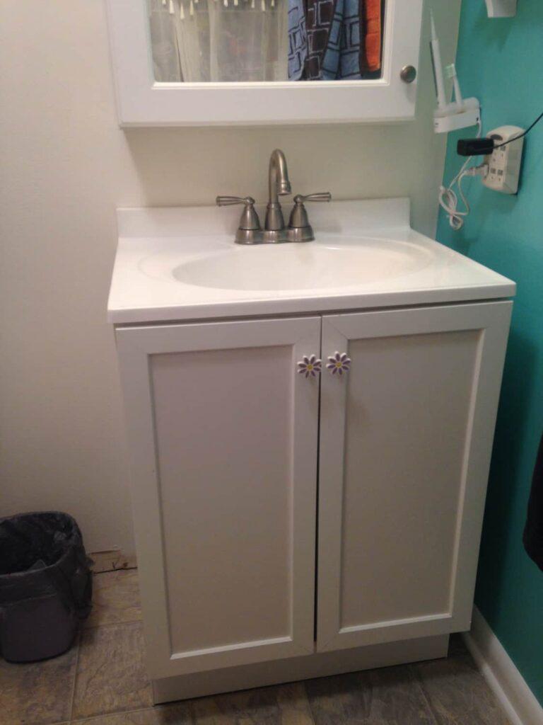 removable tile backsplash for bathroom