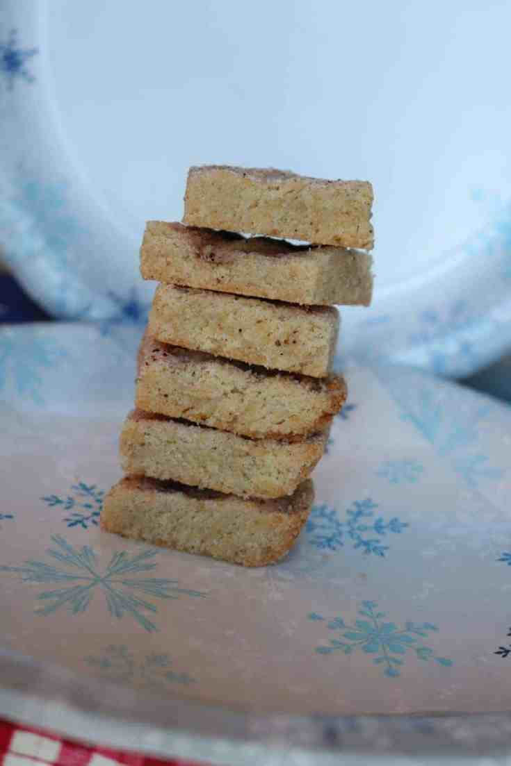 nutmeg shortbread squares