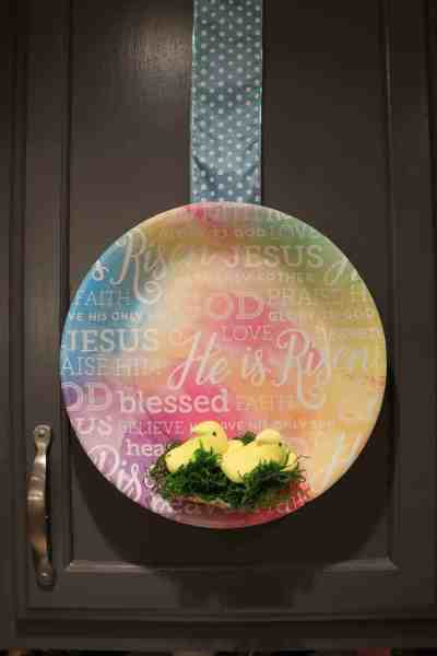 Easy Easter Kitchen Cabinet Decor