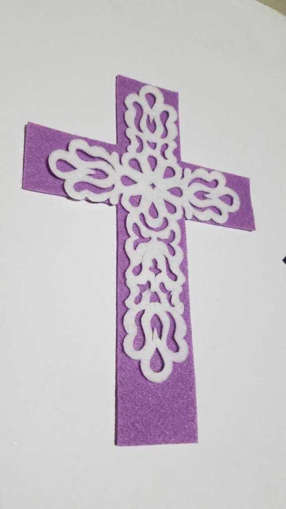 filigree felt cross
