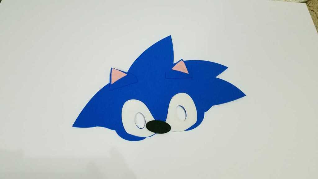 blue sonic face mask