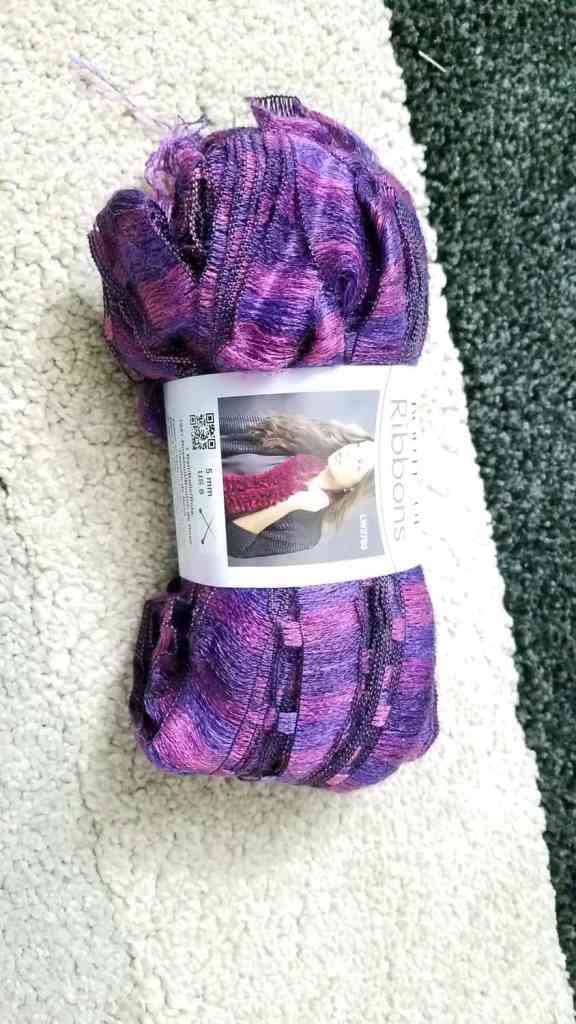 pink and purple yarn