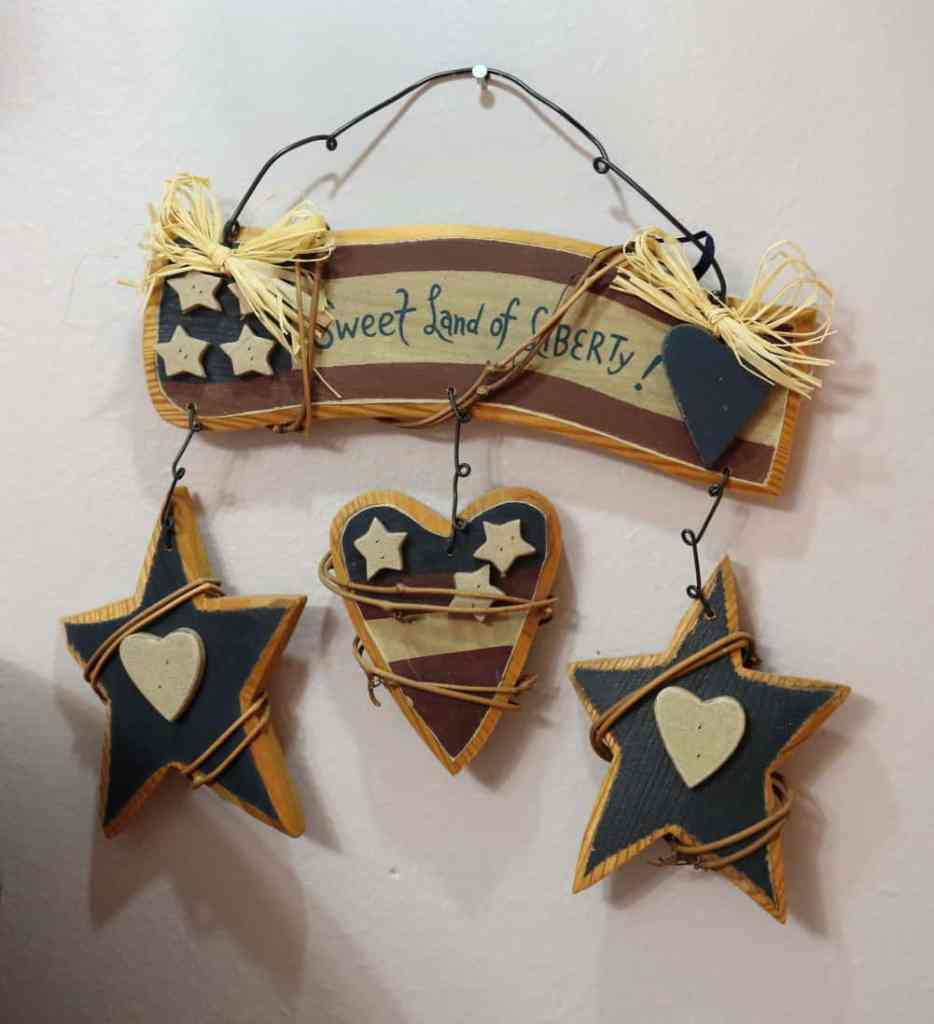Sweet Land of Liberty wooden decoration