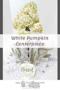 white pumpkin centerpiece graphic