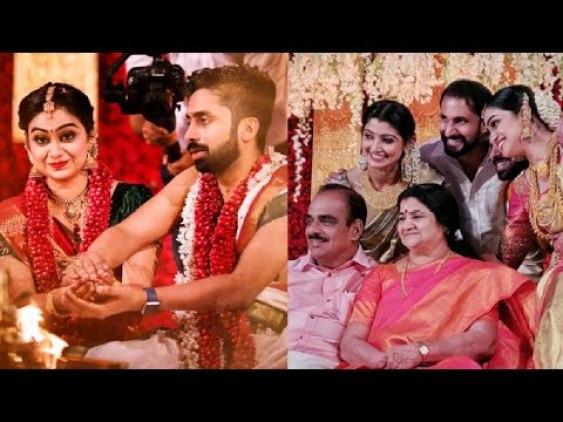 Image result for divya-unni-s-sister-vidya-unni-got-married