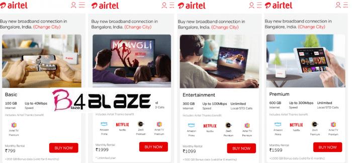 Airtel V Fiber Plans