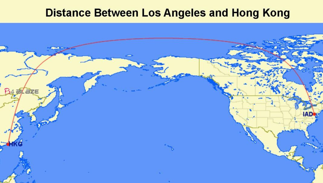 Distance-between-hongkong-and-LA
