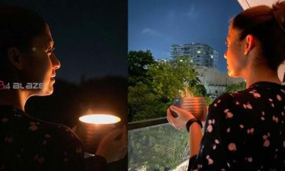 Nayanthara lights lamps...