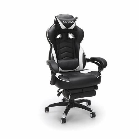RESPAWN RESPAWN-110 Racing Style Reclining Ergonomic Leather Footrest