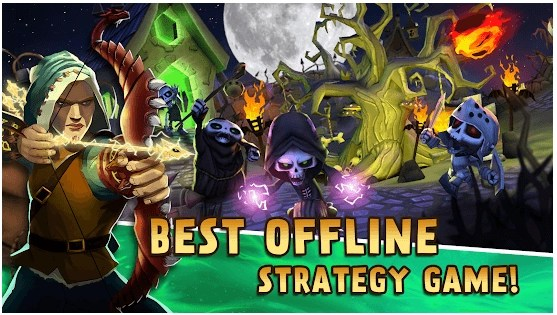 Skull Towers: Tower Defense offline games for free