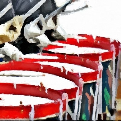 Line of Snare Drummers