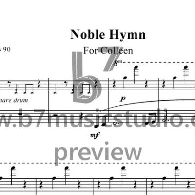 Noble Hymn - Sheet Music Preview