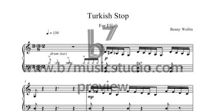 Turkish Stop - Sheet Music Preview