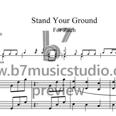 Stand Your Ground - Sheet Music Preview