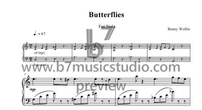 Butterflies - Sheet Music Preview