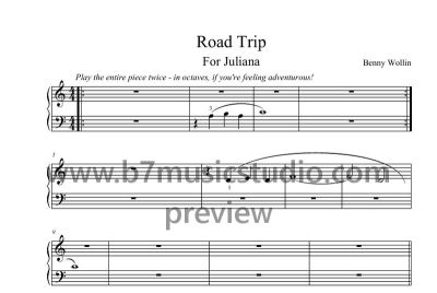 Road Trip - Sheet Music Preview